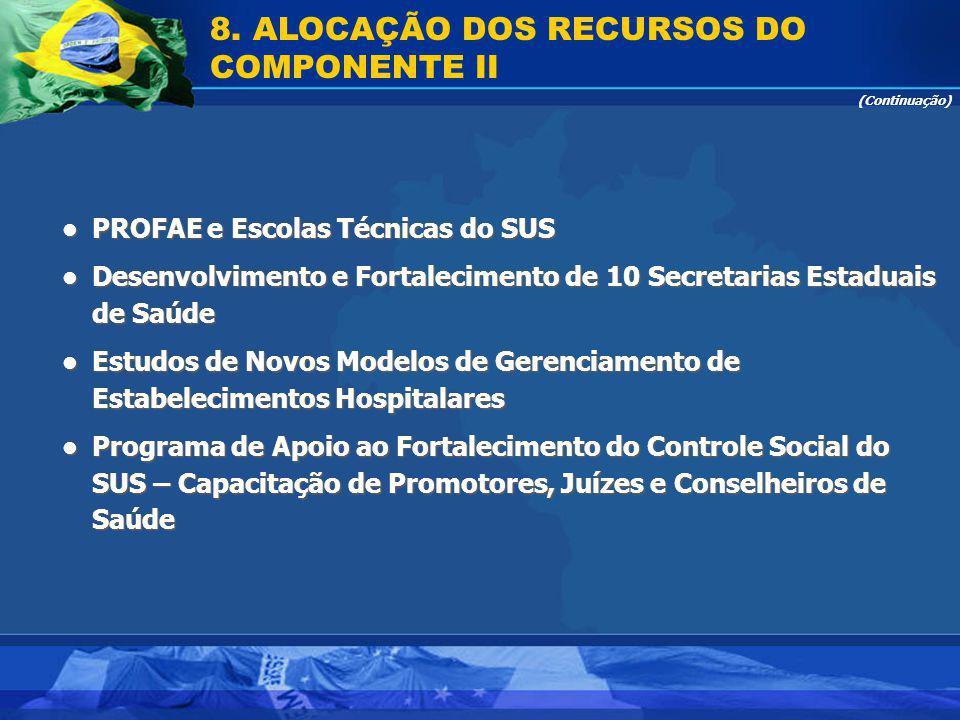 PROFAE e Escolas Técnicas do SUS PROFAE e Escolas Técnicas do SUS Desenvolvimento e Fortalecimento de 10 Secretarias Estaduais de Saúde Desenvolviment