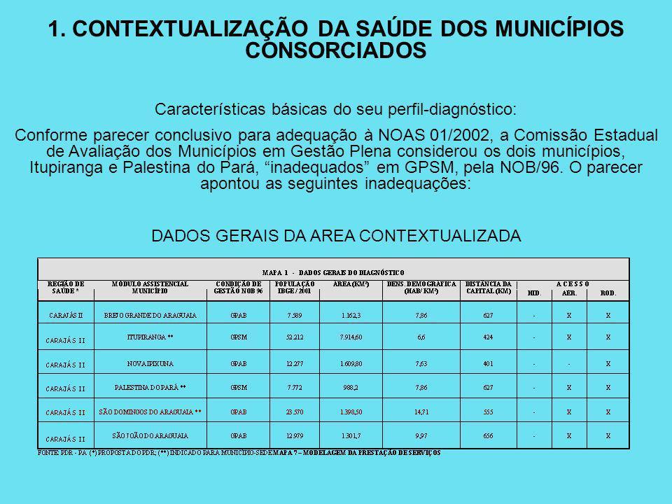 Características básicas do seu perfil-diagnóstico: Conforme parecer conclusivo para adequação à NOAS 01/2002, a Comissão Estadual de Avaliação dos Mun