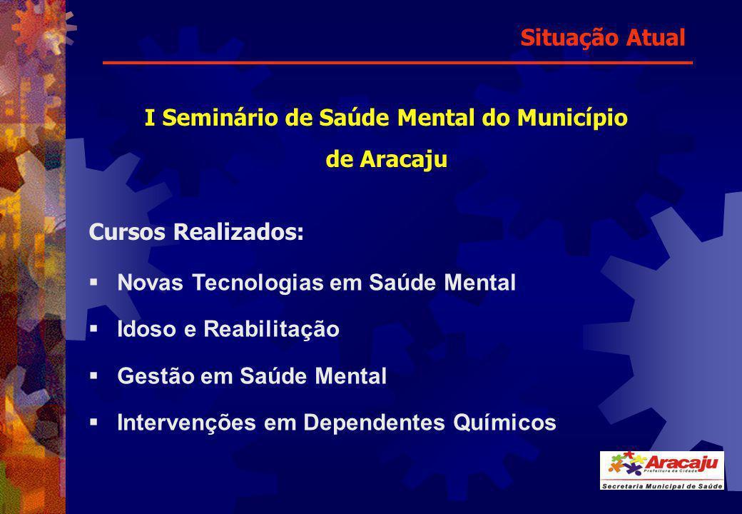 Cursos Realizados: Novas Tecnologias em Saúde Mental Idoso e Reabilitação Gestão em Saúde Mental Intervenções em Dependentes Químicos I Seminário de S