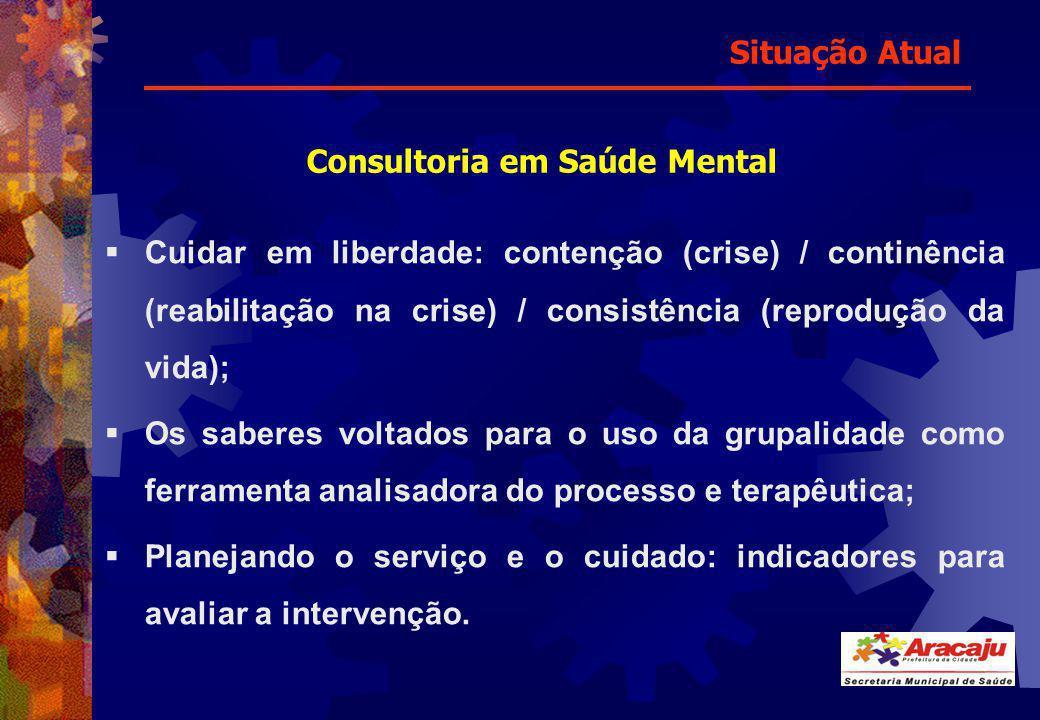Cuidar em liberdade: contenção (crise) / continência (reabilitação na crise) / consistência (reprodução da vida); Os saberes voltados para o uso da gr