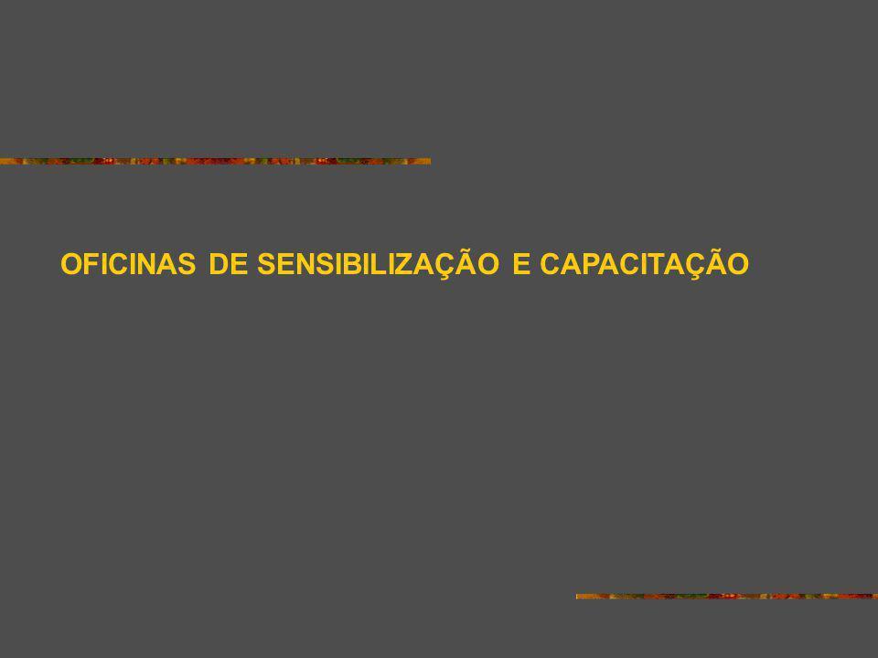 OFICINAS DE SENSIBILIZAÇÃO E CAPACITAÇÃO