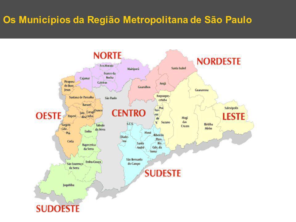 Os Municípios da Região Metropolitana de São Paulo