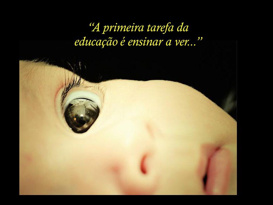 A primeira tarefa da educação é ensinar a ver...