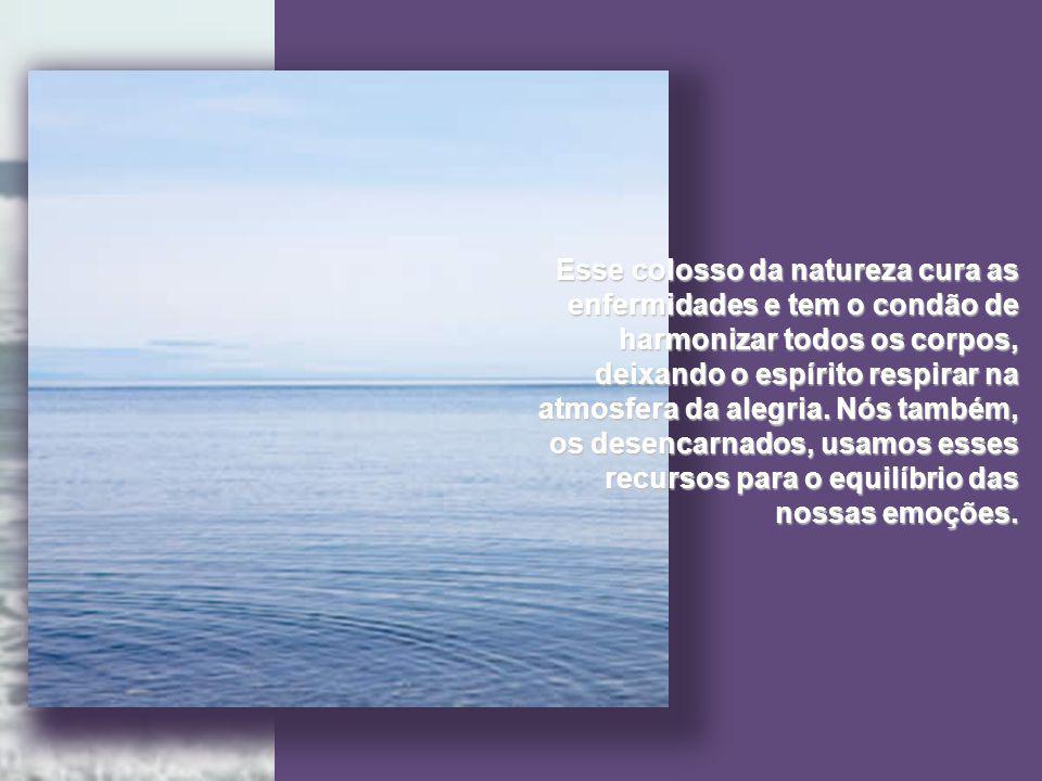 O mar é uma farmacopeia exuberante; é a mais alta concentração energética de vida, que nos fala dos seus segredos no repassar das ondas, no rugir do seu peso descomunal e nas extensões de luzes que se intercruzam nas profundezas.