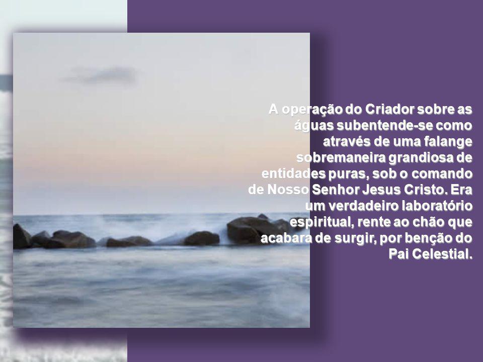 Moisés nos diz que o espírito de Deus pairava sobre as águas, na formação da casa terrestre.