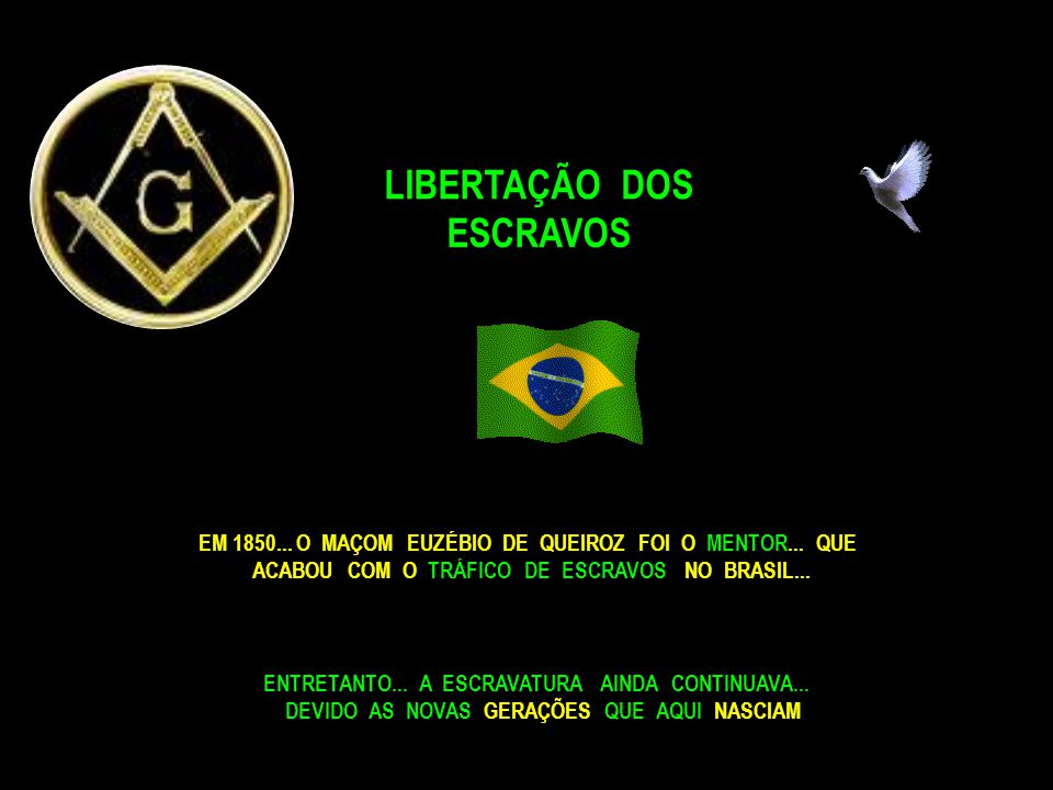 O GRÃO MESTRE MAÇÔNICO...DUQUE DE CAXIAS... PACIFICA A REGIÃO...