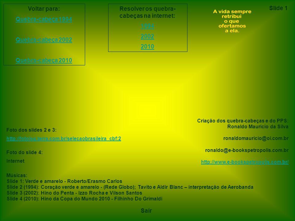 Para sair, clique aqui com o botão esquerdo Slide 1 Convocados: Copa do Mundo de 2010 Seguinte