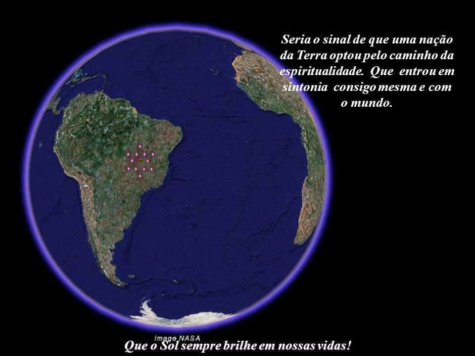 As doze Cidades do Sol formariam, no centro do Brasil, o maior agroglifo da Terra, visível até mesmo da Lua.