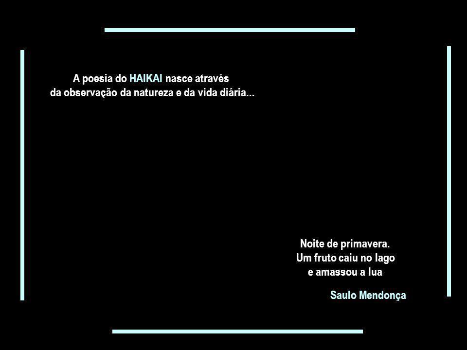 O Haikai tradicional é a escrita de três versos em linguagem simples... sem rima... sem título... somando dezessete sílabas poéticas Esta vida é uma v