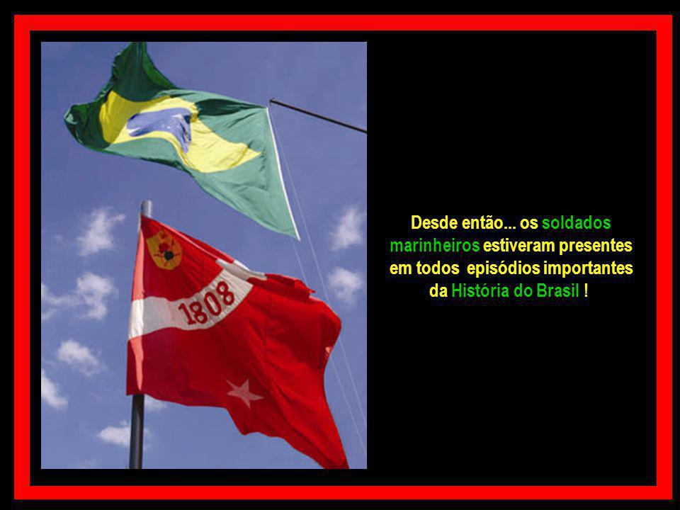 Em 21/03/1809 por determinação do Ministro da Marinha D. João Rodrigues de Sá e Menezes... a Brigada Real da Marinha... atual Corpo de Fuzileiro Navai