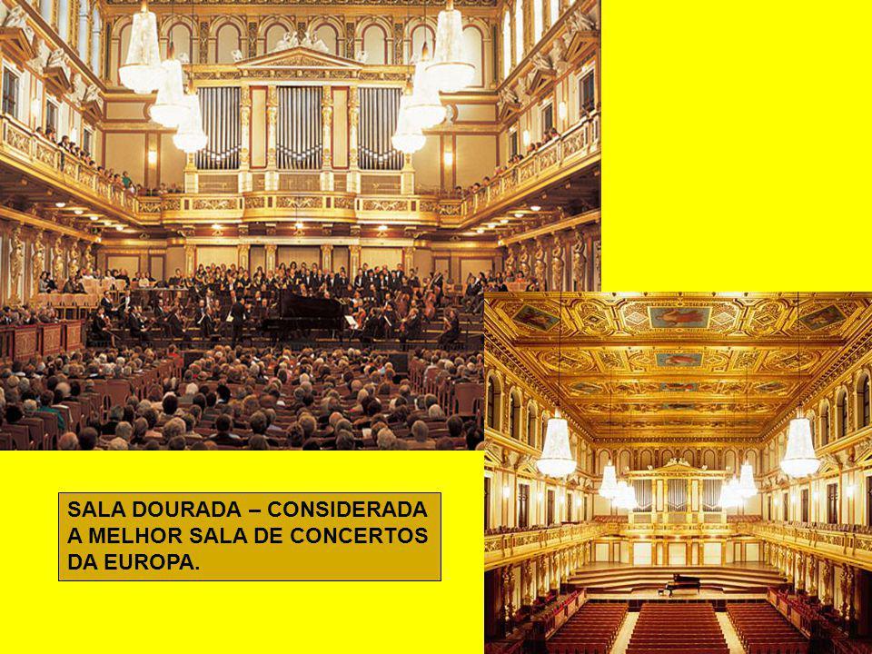 FILARMONICA DE VIENA E A SALA DOURADA – Reconhecida no mundo como uma das salas de melhor acústica.
