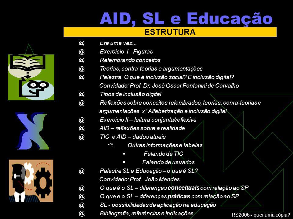 RS2006 - quer uma cópia? Alfabetização e inclusão digital. Software Livre e educação Transformação ou reafirmação ?