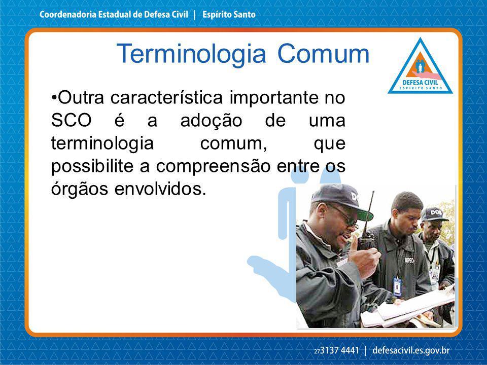 Outra característica importante no SCO é a adoção de uma terminologia comum, que possibilite a compreensão entre os órgãos envolvidos. Terminologia Co
