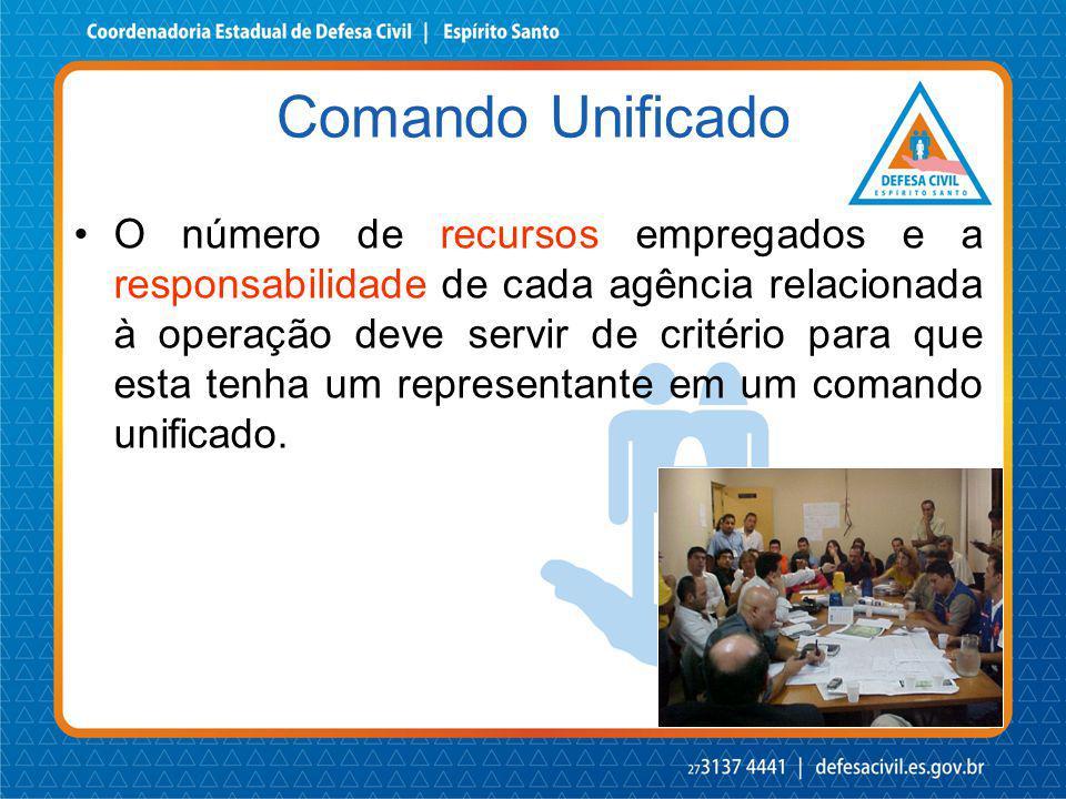 O número de recursos empregados e a responsabilidade de cada agência relacionada à operação deve servir de critério para que esta tenha um representan