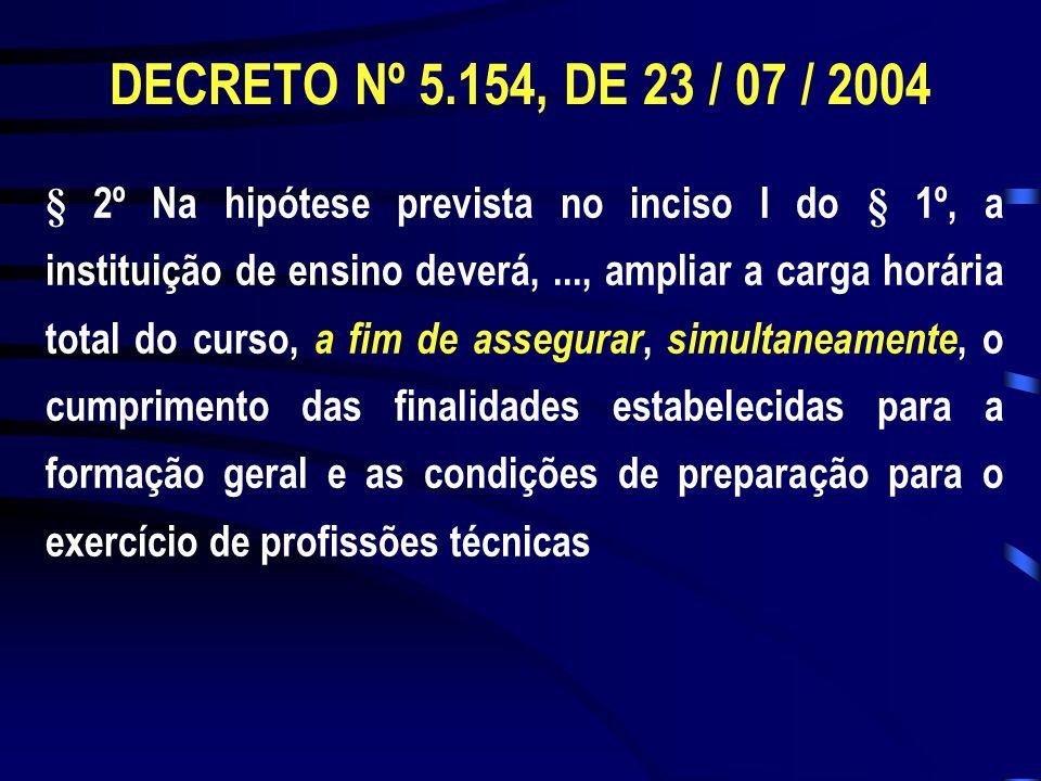 § 2º Na hipótese prevista no inciso I do § 1º, a instituição de ensino deverá,..., ampliar a carga horária total do curso, a fim de assegurar, simulta