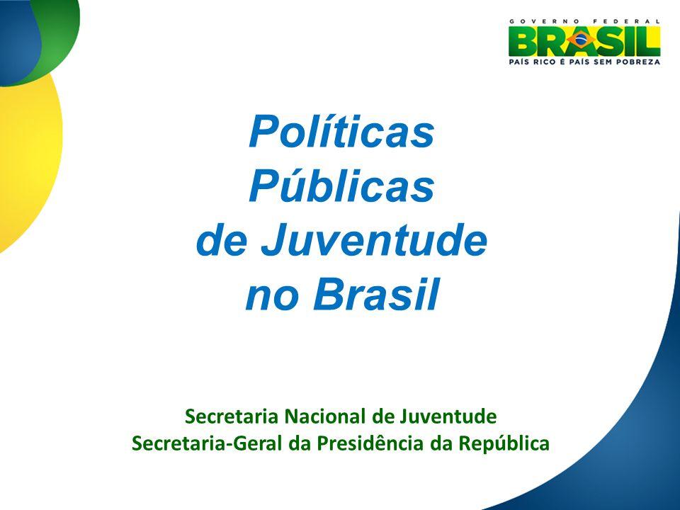 Políticas Públicas de Juventude no Brasil Secretaria Nacional de Juventude Secretaria-Geral da Presidência da República