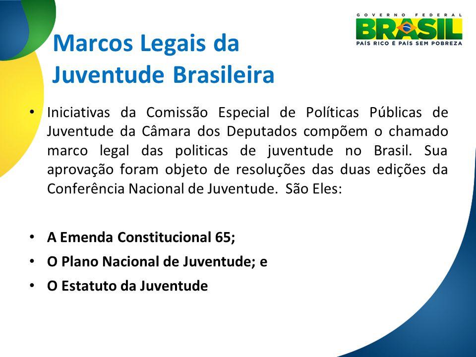 Marcos Legais da Juventude Brasileira Iniciativas da Comissão Especial de Políticas Públicas de Juventude da Câmara dos Deputados compõem o chamado ma