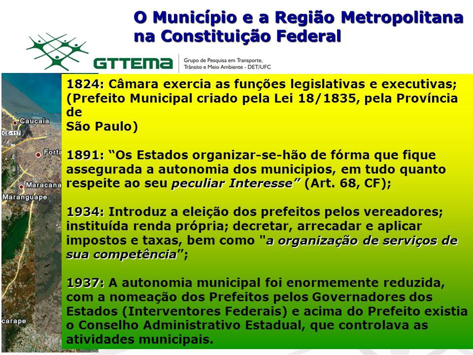 1824: 1824: Câmara exercia as funções legislativas e executivas; (Prefeito Municipal criado pela Lei 18/1835, pela Província de São Paulo) 1891: pecul