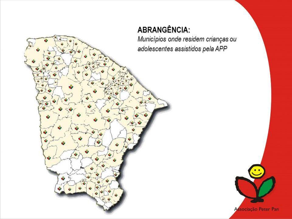 ABRANGÊNCIA: Municípios onde residem crianças ou adolescentes assistidos pela APP