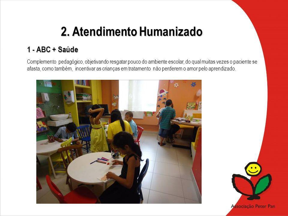 Complemento pedagógico, objetivando resgatar pouco do ambiente escolar, do qual muitas vezes o paciente se afasta, como também, incentivar as crianças