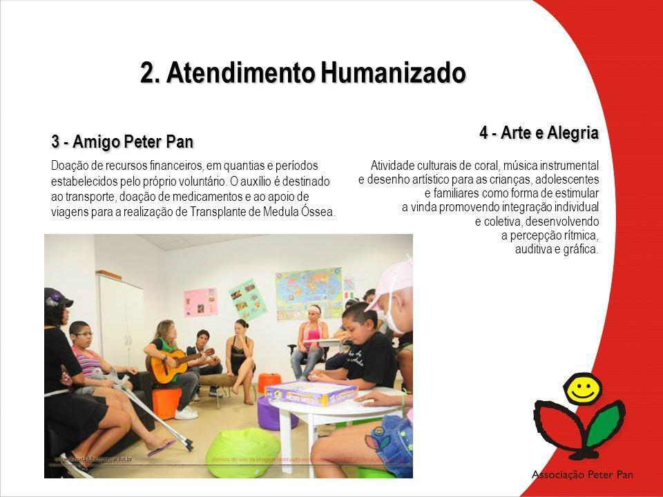 3 - Amigo Peter Pan 4 - Arte e Alegria Atividade culturais de coral, música instrumental e desenho artístico para as crianças, adolescentes e familiar