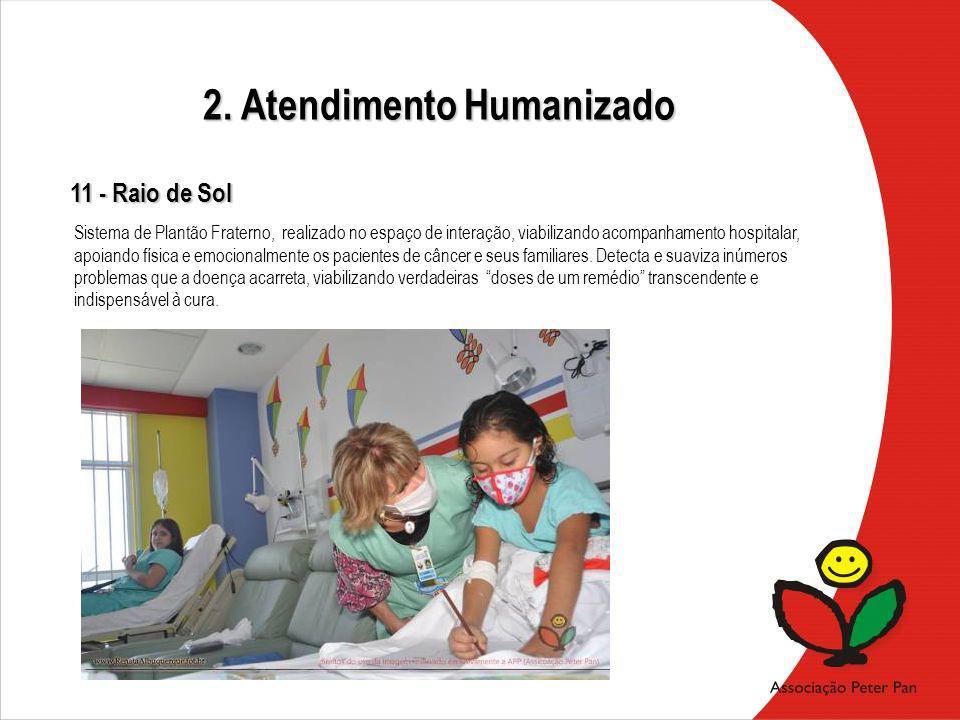Sistema de Plantão Fraterno, realizado no espaço de interação, viabilizando acompanhamento hospitalar, apoiando física e emocionalmente os pacientes d