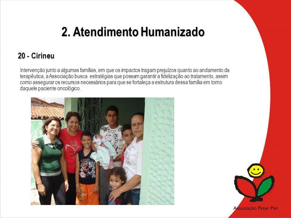 20 - Cirineu Intervenção junto a algumas famílias, em que os impactos tragam prejuízos quanto ao andamento da terapêutica, a Associação busca estratég