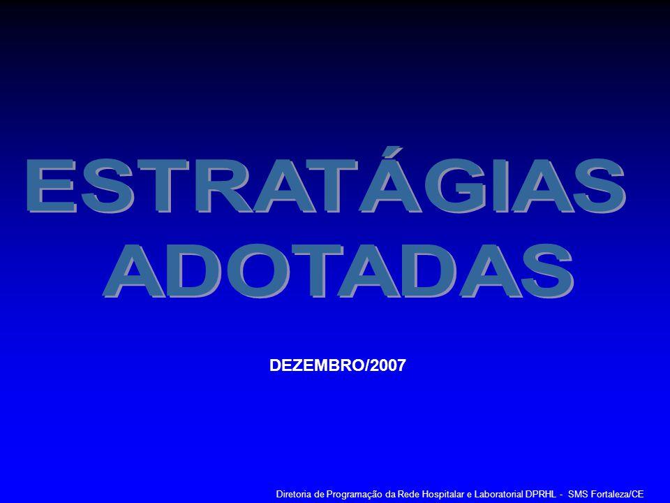 DEZEMBRO/2007 Diretoria de Programação da Rede Hospitalar e Laboratorial DPRHL - SMS Fortaleza/CE