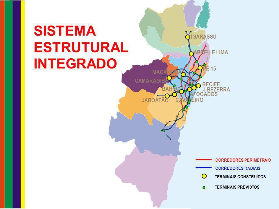 TERMINAL INTEGRADO DA PE-15 Dia Útil: 12 linhas - 139 ônibus - 1.542 viagens - 137.500 pass
