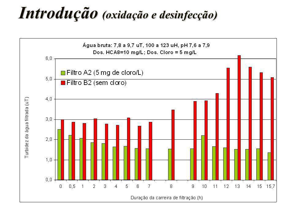 Introdução (oxidação e desinfecção) Introdução (oxidação e desinfecção)