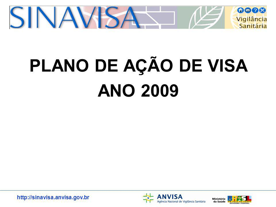 http://sinavisa.anvisa.gov.br PLANO DE AÇÃO DE VISA ANO 2009
