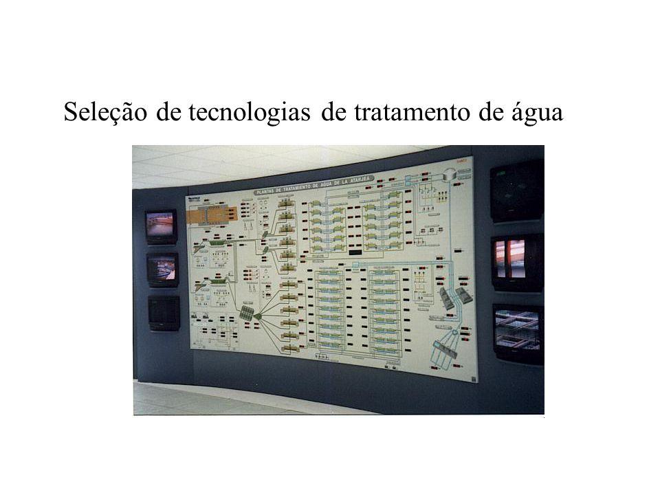 Seleção de tecnologias de tratamento de água
