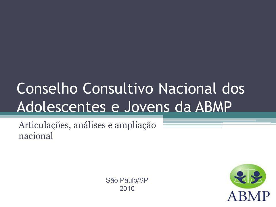 Conselho Consultivo Nacional dos Adolescentes e Jovens da ABMP Articulações, análises e ampliação nacional São Paulo/SP 2010