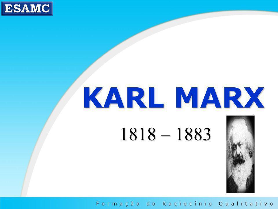 KARL MARX 1818 – 1883