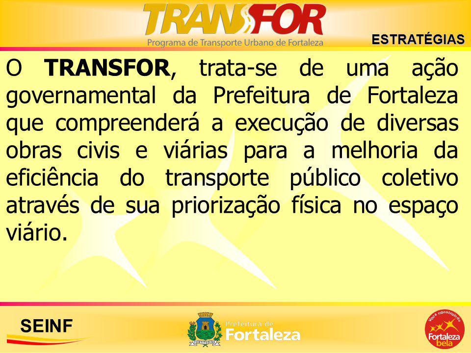 SEINF O TRANSFOR, trata-se de uma ação governamental da Prefeitura de Fortaleza que compreenderá a execução de diversas obras civis e viárias para a m