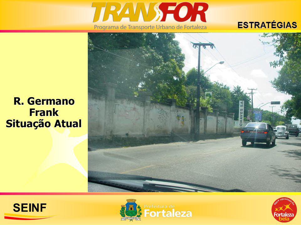 SEINF R. Germano Frank Situação Atual ESTRATÉGIAS