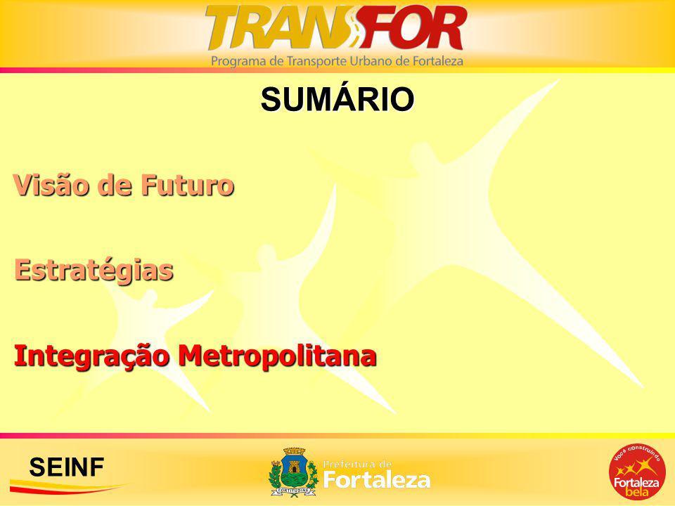 SEINF SUMÁRIO Estratégias Visão de Futuro Integração Metropolitana