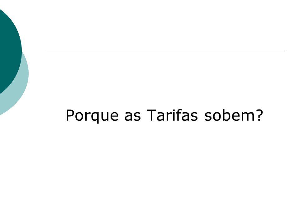 Porque as Tarifas sobem?