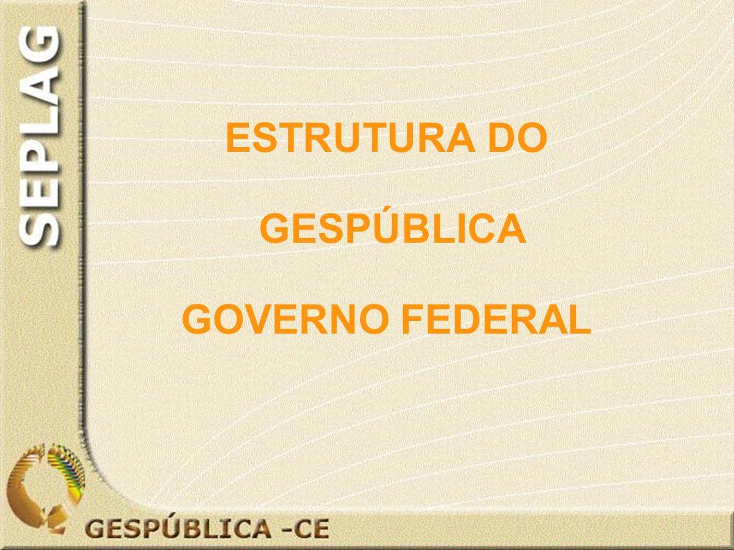 ESTRUTURA DO GESPÚBLICA GOVERNO FEDERAL