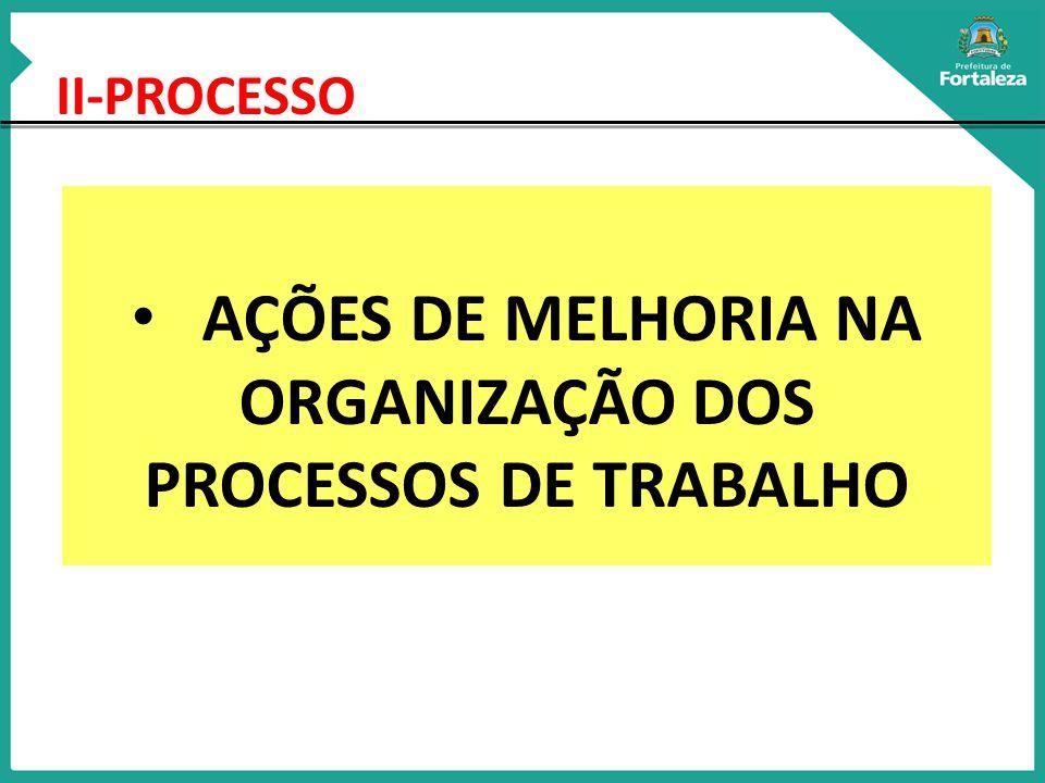 II-PROCESSO AÇÕES DE MELHORIA NA ORGANIZAÇÃO DOS PROCESSOS DE TRABALHO