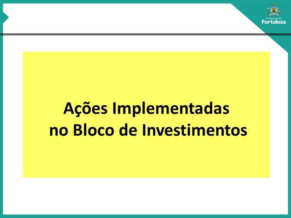 Ações Implementadas no Bloco de Investimentos