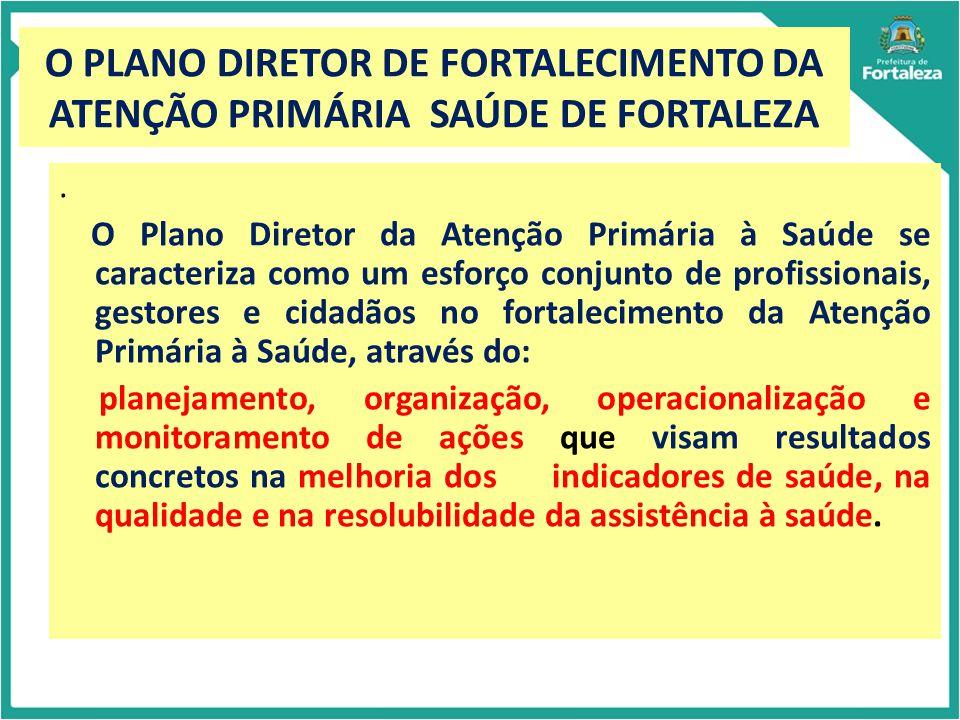 Implantação do Plano Diretor de Atenção Primária Primary Care Assessment Tool – PCATool Criado por Starfield e colaboradores Mede a presença e extensão de atributos da APS através da experiência de usuários e/ou profissionais de saúde e/ou de gestores Validado no Brasil em sua versão para adultos, para crianças e para profissionais Produz escores de cada atributo da APS, além de um Escore Essencial e Geral de APS Cada atributo avalia duas dimensões: Estrutura e Processo