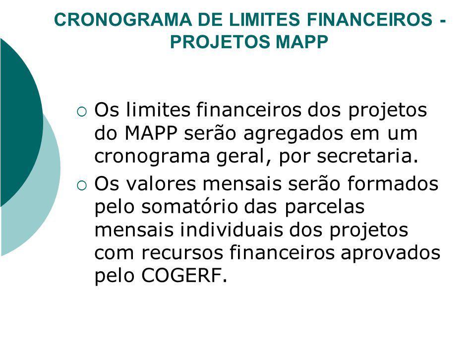 FONTES DE RECURSOS Os financiadores dos projetos do MAPP deverão obedecer as mesmas nomenclaturas das fontes de recursos previstas na Lei Orçamentária de 2008.