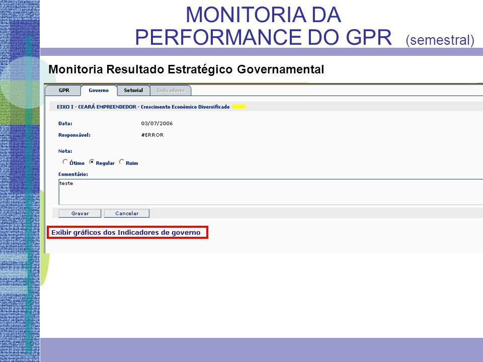 Monitoria Resultado Estratégico Governamental