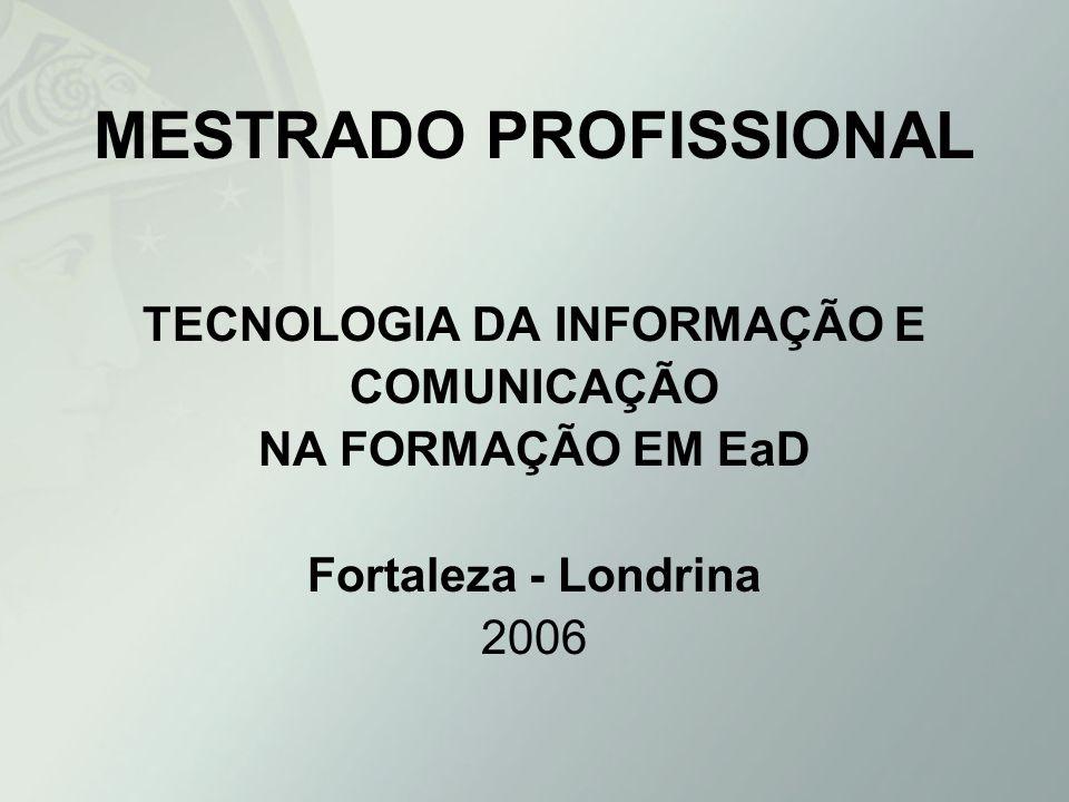 DESCRIÇÃO DO CURSO (Cont.) O trabalho final deverá constituir-se de: Projeto de atividade Protótipo ou estudo de caso Desenvolvimento de equipamentos ou software