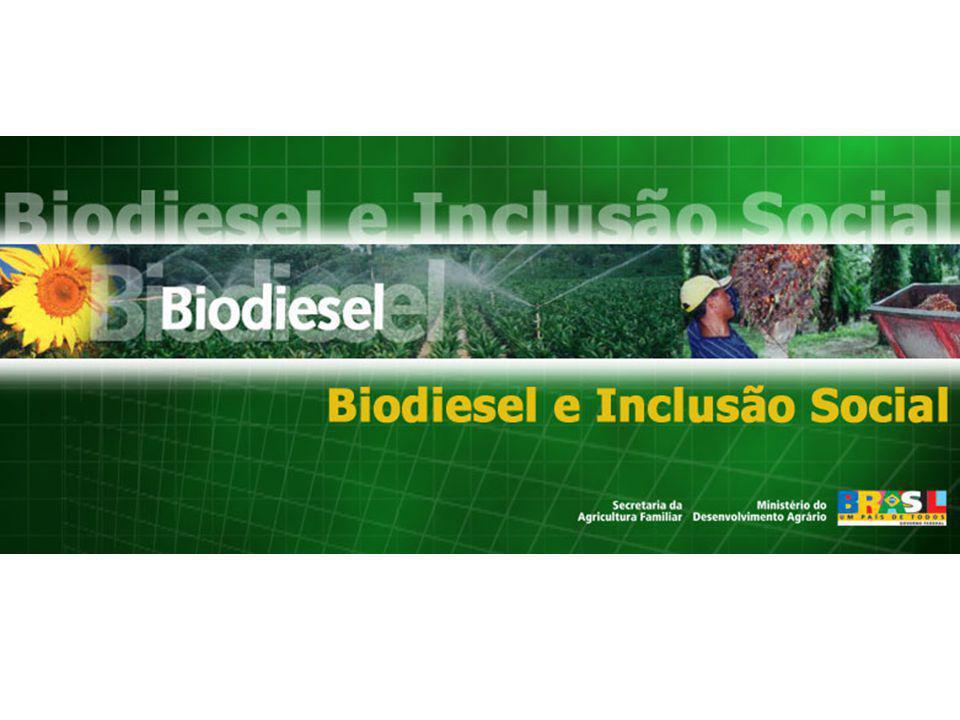 Definições 1.B2 obrigatório em 3 anos (2008) (lei 11097 ) 2.B5 obrigatório em 8 anos (2012) (lei 11097) Incidência da PIS/PASEP e Cofins sobre os produtores de biodiesel, conforme decreto 5297: R$/litro de biodiesel (base: R$673,33/m 3 )