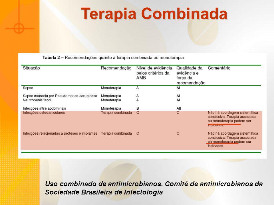 Uso combinado de antimicrobianos. Comitê de antimicrobianos da Sociedade Brasileira de Infectologia