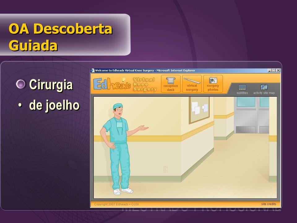 Cirurgia de joelho Cirurgia de joelho OA Descoberta Guiada