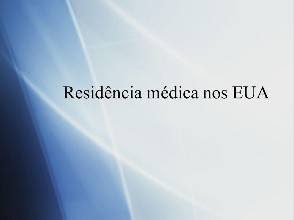Residência médica nos EUA