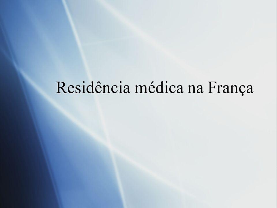 Residência médica na França
